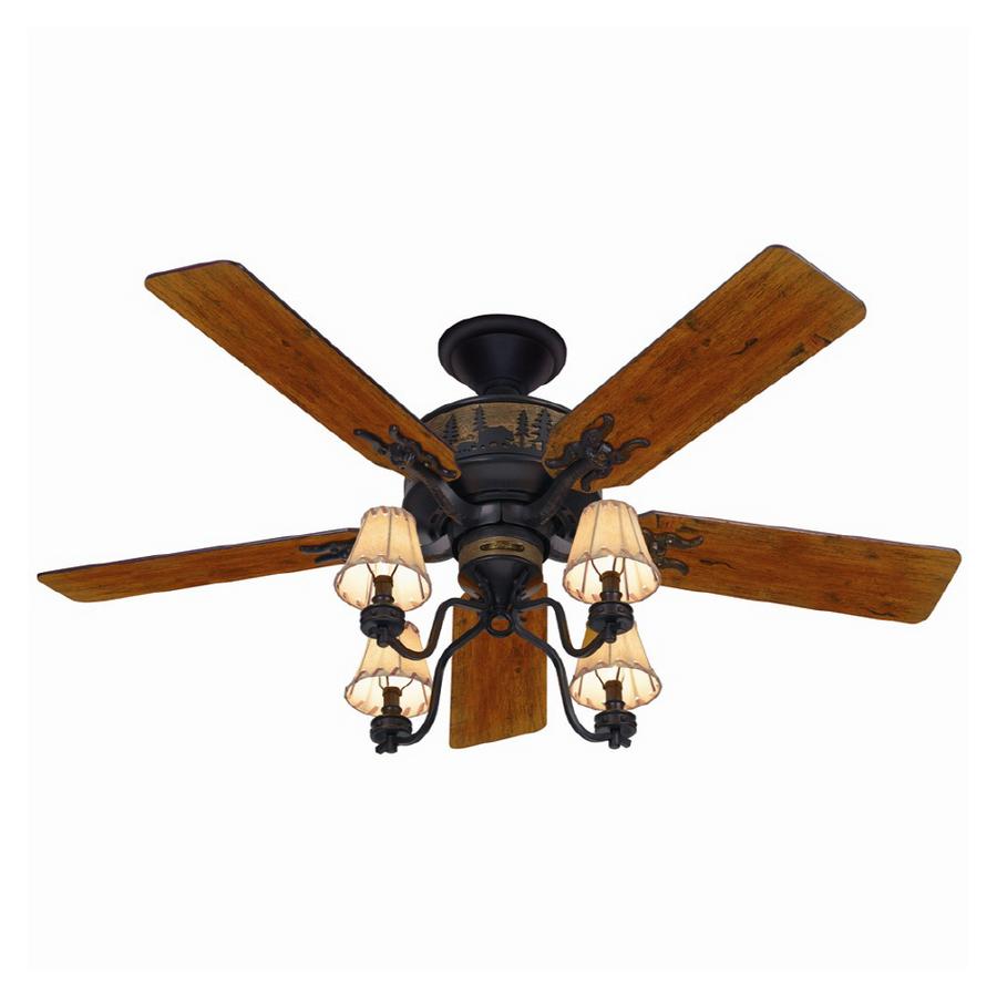 "Lowes Com Ceiling Fans: HUNTER 52"" BRITTANY BRONZE WOODS Ceiling Fan HR 20715"