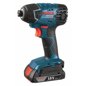 Bosch 18-Volt Lithium Ion 1/4-in Cordless Variable Speed Impact Driver (2-Batteries Included)