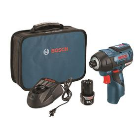 Bosch 12-volt Max Lithium Ion 1/4-in Cordless Variable Speed Brushless Impact Driver (2-Batteries Included) PS42-02
