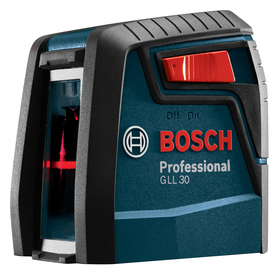 Bosch 30-ft Laser Chalkline Self-Leveling Cross-line Laser Level with Plumb Points GLL 30