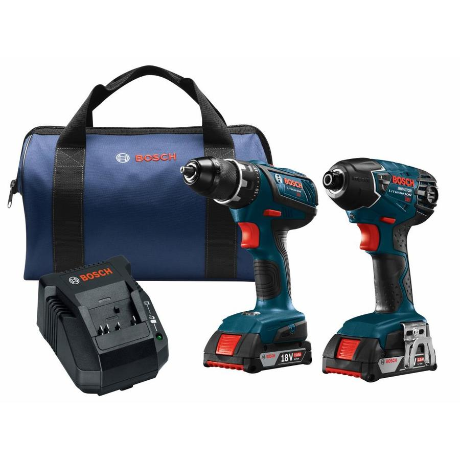 Bosch 2-Tool 18-Volt Power Tool Combo Kit with Soft Case (Charger Included and 2-Batteries Included) | CLPK232A-181