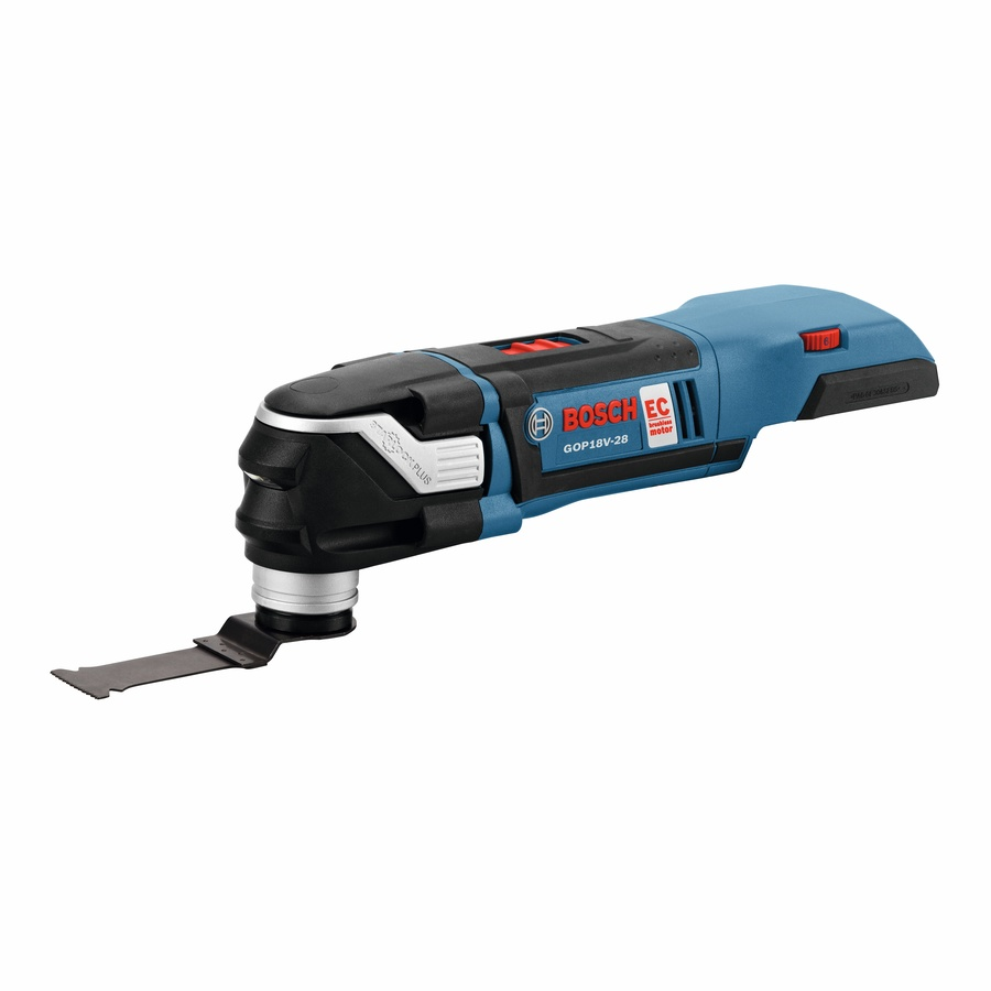 Bosch Starlock Plus 3-Piece Brushless-Amp 18-Volt Variable Speed Oscillating Multi-Tool Kit with N/ANo Case) Case | GOP18V-28N