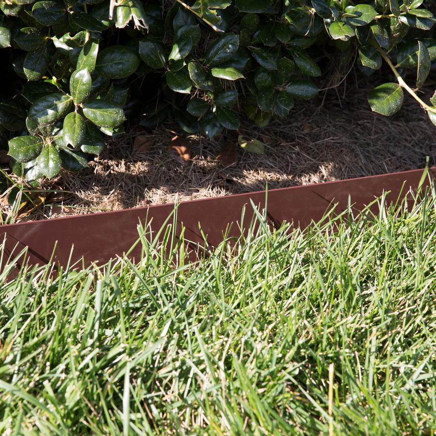 Col Met 8 Ft Brown Powder Coat Steel Landscape Edging Section In The Landscape Edging Department At Lowes Com