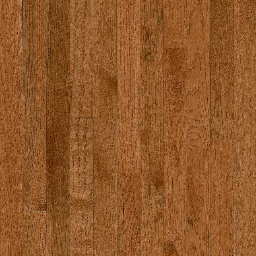 America's Best Choice 2-1/4-in Wide x 3/4-in Thick Gunstock Oak Smooth/Traditional Solid Hardwood Flooring (20-sq ft) in Brown | - Bruce ABC401