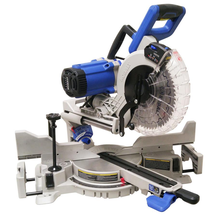 10-In 15-Amp Dual Bevel Sliding Compound Miter Saw - Kobalt SM2517LW