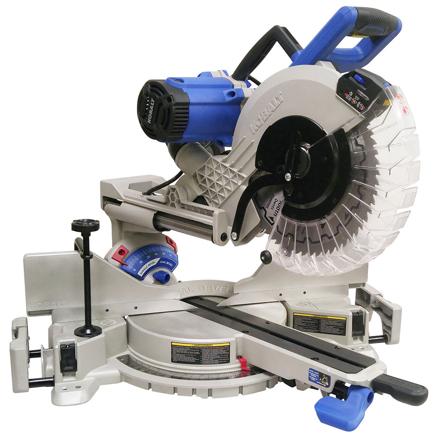 12-In 15-Amp Dual Bevel Sliding Compound Miter Saw - Kobalt SM3017LW