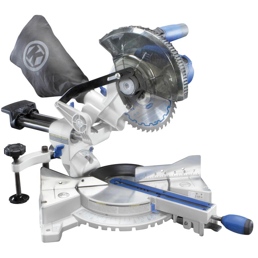 Lowes 7-1/4-In 9-Amp Single Bevel Sliding Compound Miter Saw - Kobalt SM1850LW