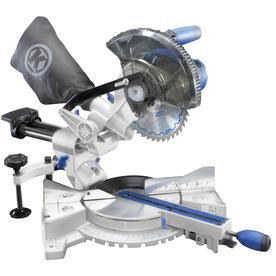 7-1/4-in 9-Amp Single Bevel Sliding Laser Compound Miter Saw - Kobalt SM1850LW