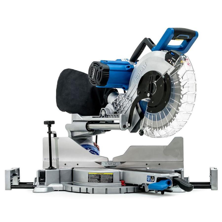 12-In 15-Amp Dual Bevel Sliding Laser Compound Miter Saw - Kobalt SM3016LW