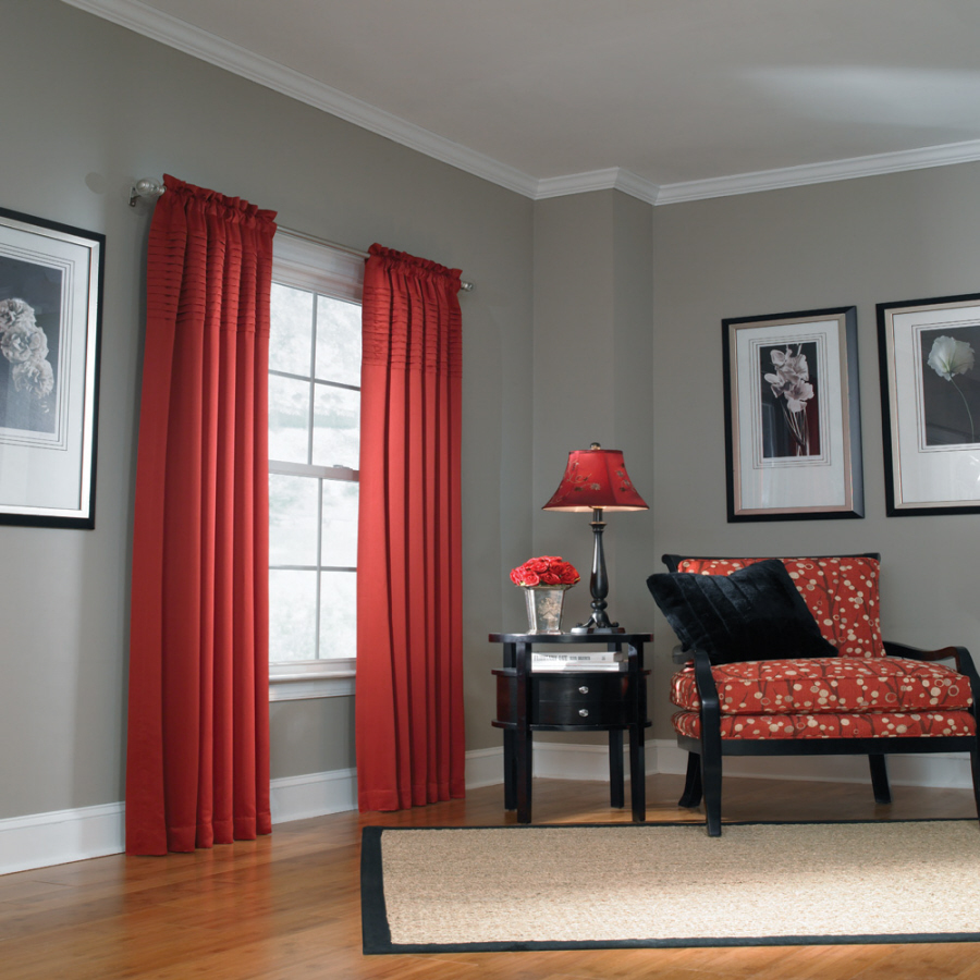 Colors For Walls: Shop Allen + Roth Lincolnshire 95-in L Solid Red Rod