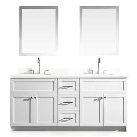 Display Product Reviews For Hamlet White Vanity With White Quartz Top  (Common: 73