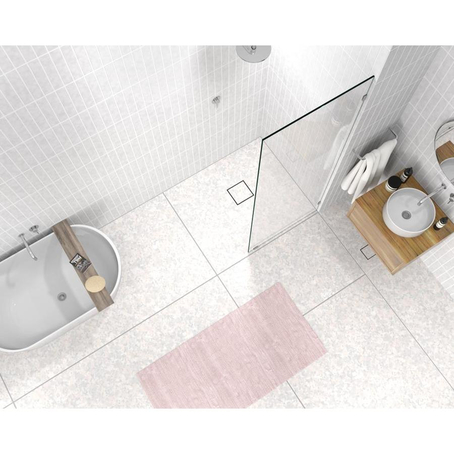 Glass Warehouse Glass Warehouse 78 In H X 31 In W Frameless Fixed Polished Chrome Shower Door Clear Glass In The Shower Doors Department At Lowes Com