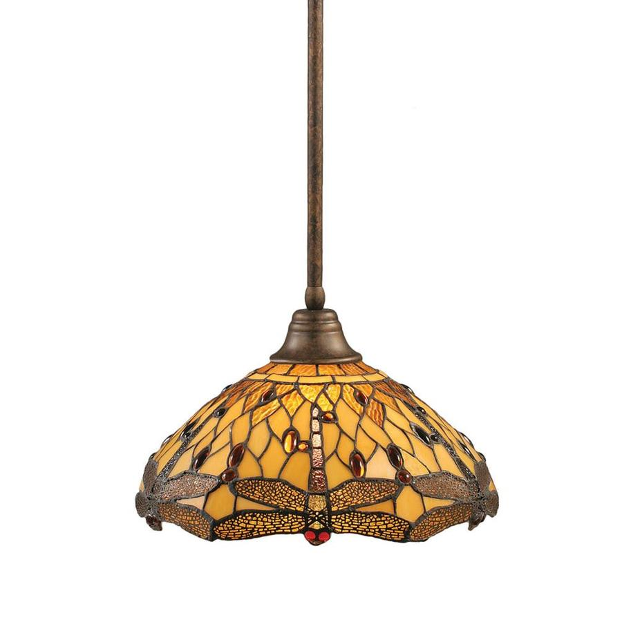 Shop Brooster 16-in W Bronze Pendant Light with Tiffany ...