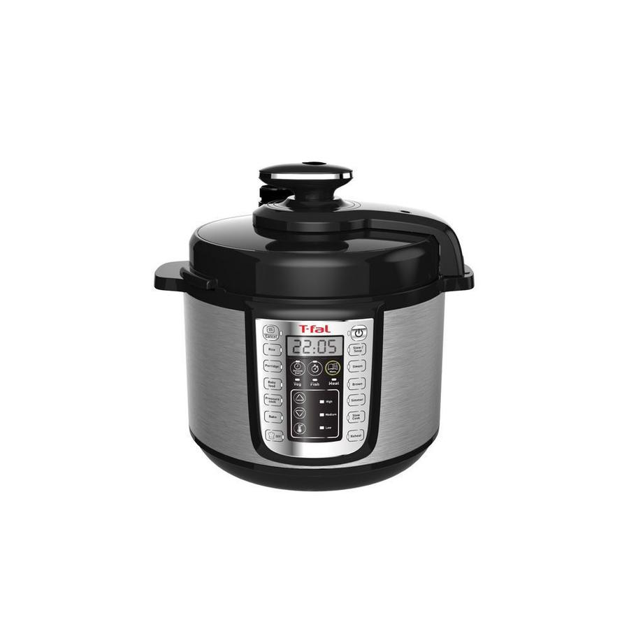 T-fal 6-Quart Programmable Electric Pressure Cooker Stainless Steel | CY505E51