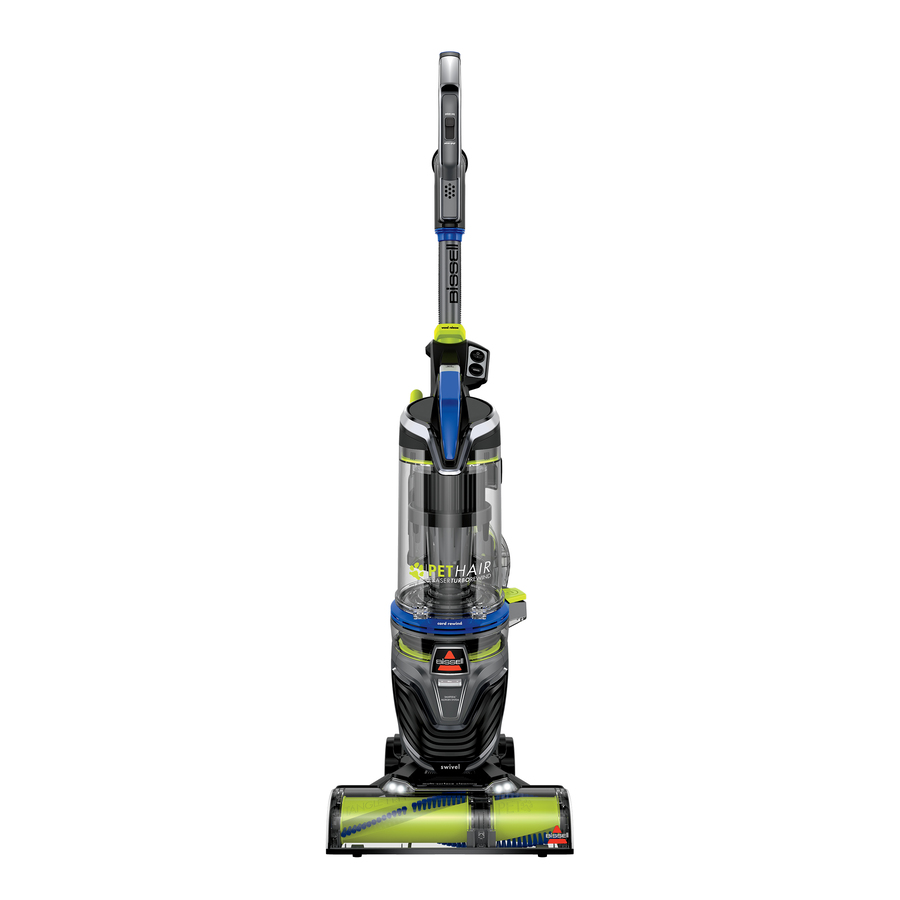 BISSELL Pet Hair Eraser Turbo Rewind Corded Bagless Upright Vacuum in Blue   27902