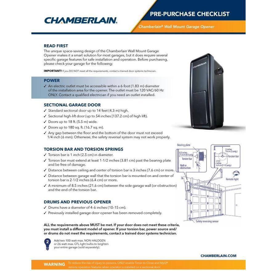 Chamberlain Myq Smart Direct Drive Garage Door Opener With Myq In The Garage Door Openers Department At Lowes Com