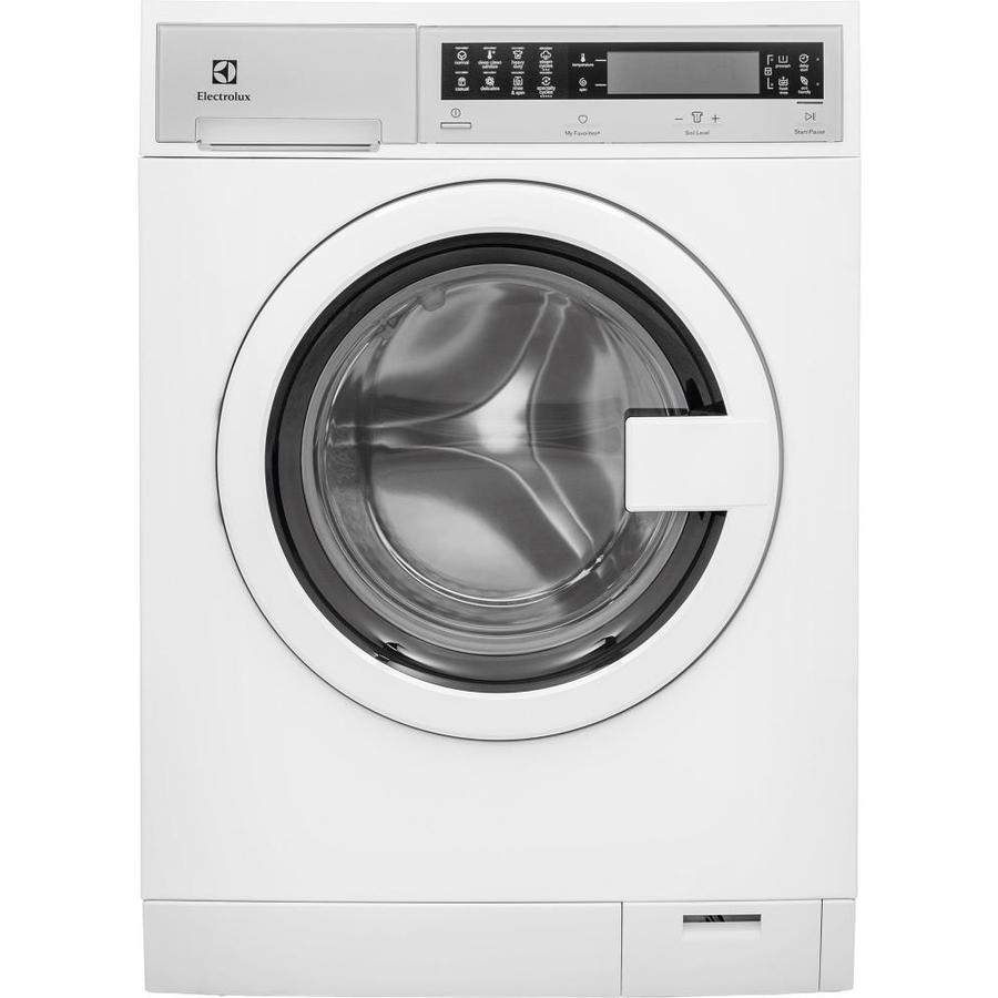 Electrolux 2.4-Cu Ft High Efficiency Stackable Steam Cycle Front-Load Washer (White) Energy Star Efls210tiw