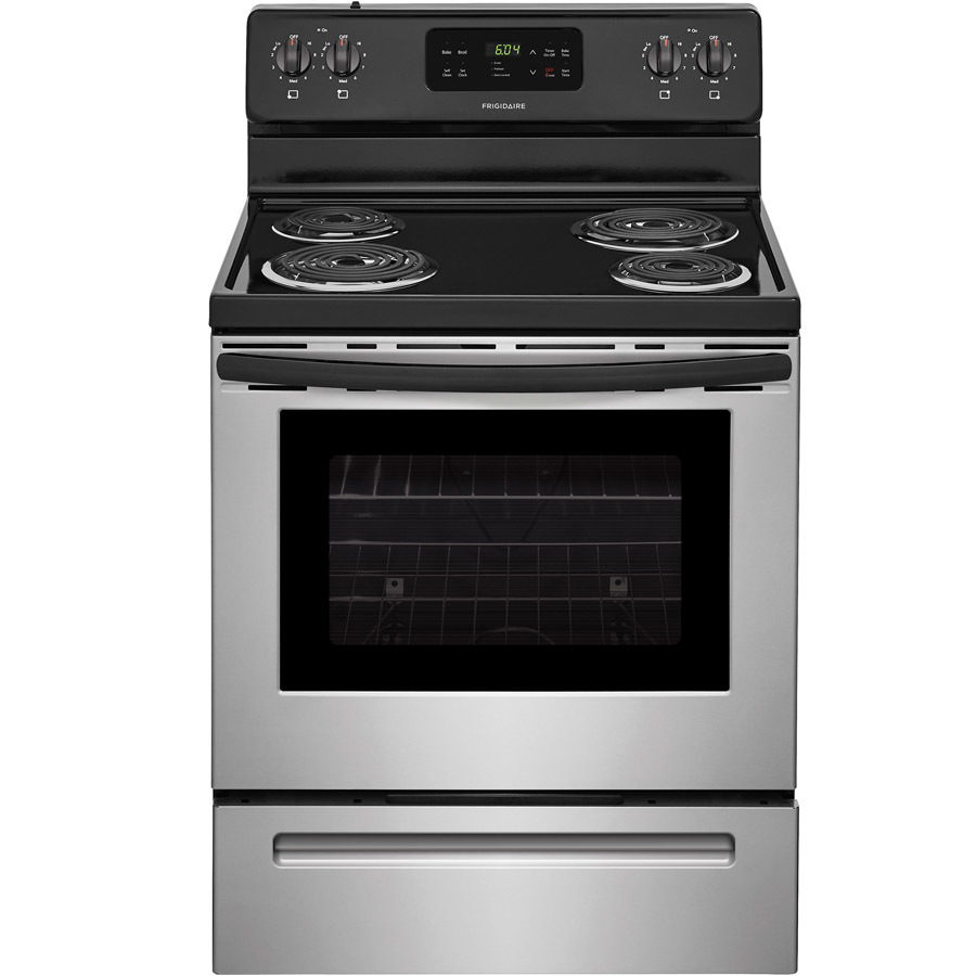 Frigidaire Freestanding 5 3 Cu Ft Self Cleaning Electric Range Stainless Steel