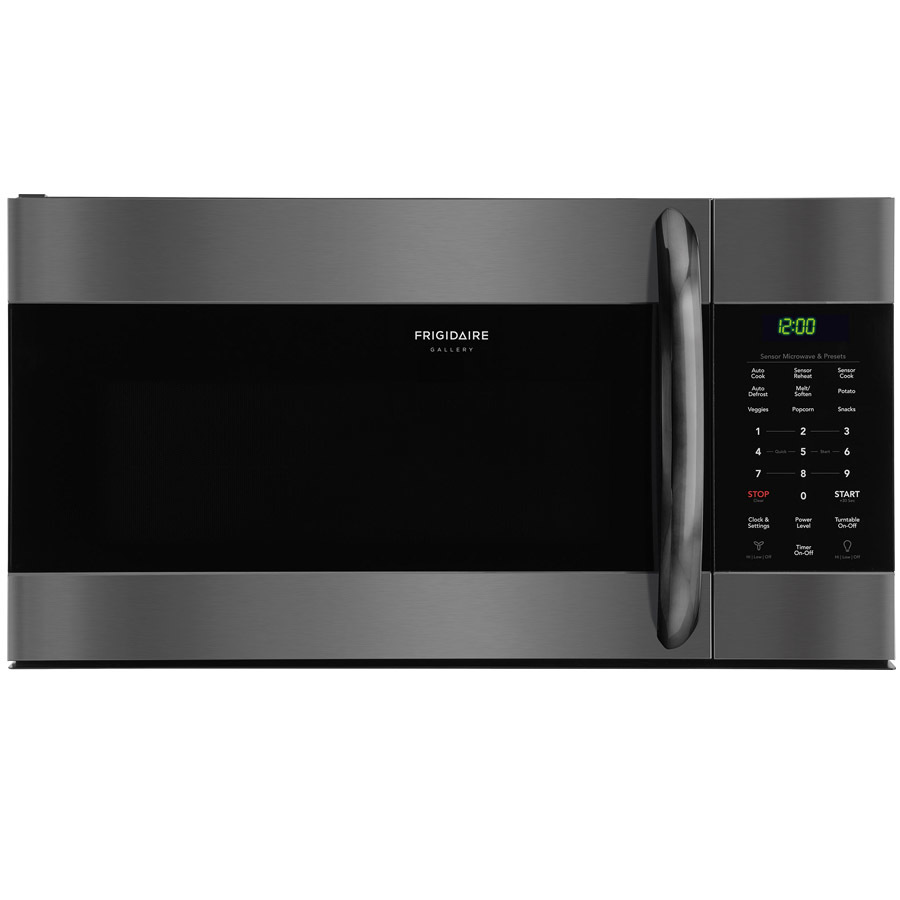 Frigidaire Gallery 1.7-cu ft Over-the-Range Microwave with Sensor Cooking (Fingerprint-Resistant Black Stainless Steel) | FGMV176NTD