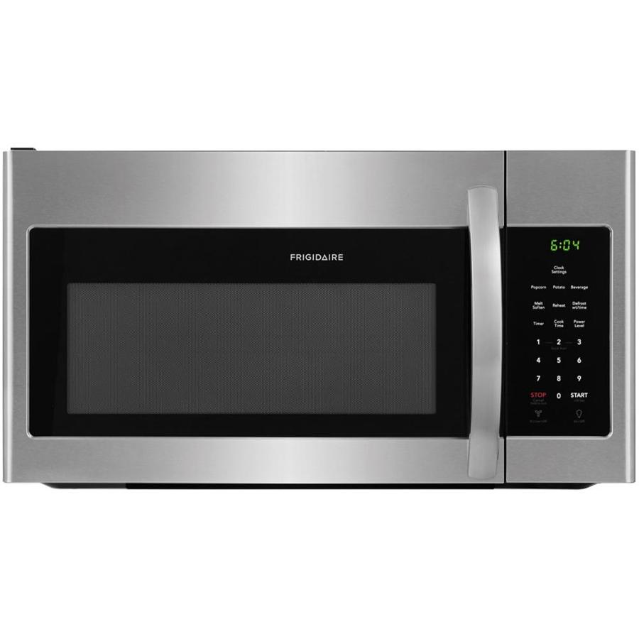Frigidaire 1 6 Cu Ft Over The Range Microwave Easycare Stainless Steel