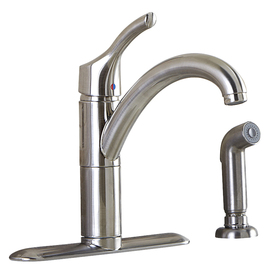 Aquasource stainless steel 1 handle high arc kitchen - Mico designs seashore kitchen faucet ...