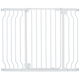 Display Product Reviews For 47.5 In X 36 In White Metal Child Safety Gate