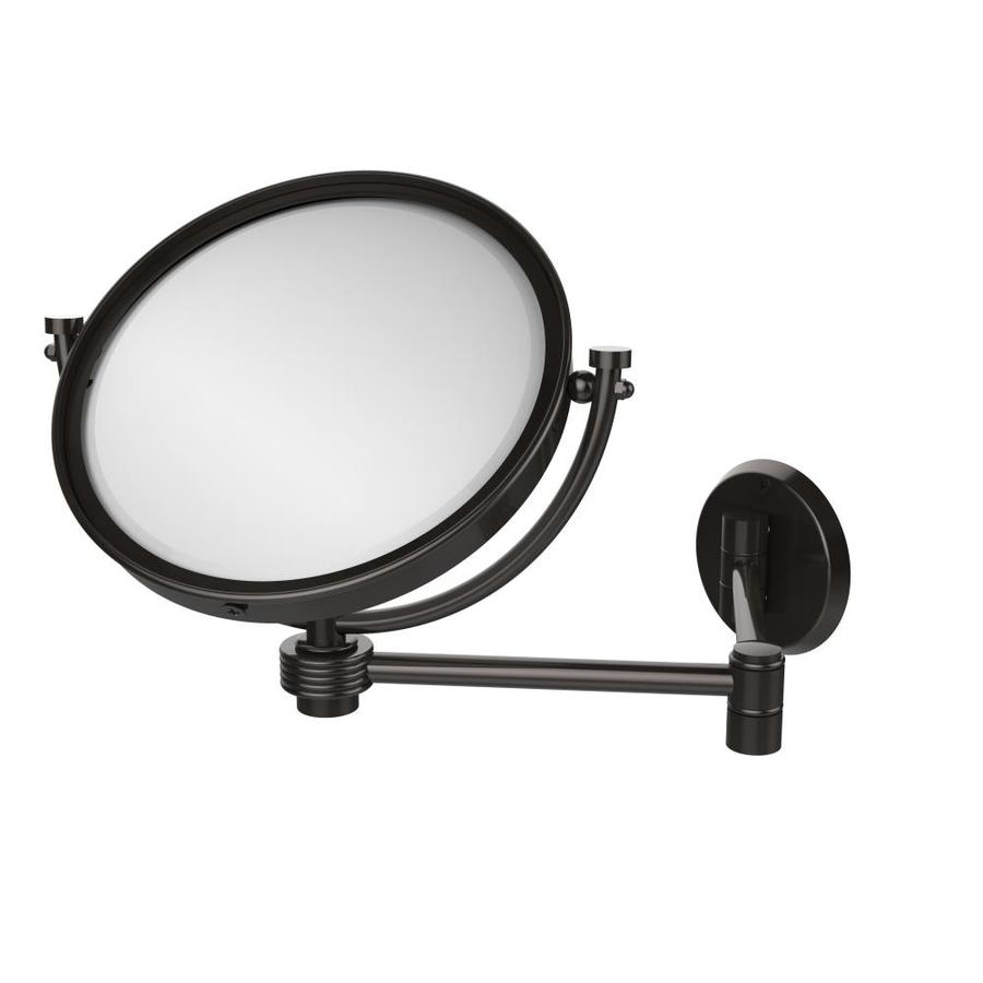 8-in x 10-in Oil-Rubbed Bronze Double-Sided Magnifying Wall-Mounted Vanity Mirror   - Allied Brass WM-6G/5X-ORB