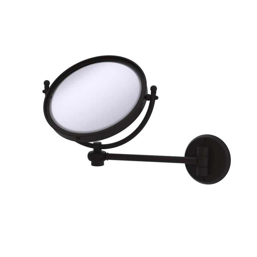8-in x 10-in Oil-Rubbed Bronze Double-Sided Magnifying Wall-Mounted Vanity Mirror   - Allied Brass WM-5T/2X-ORB