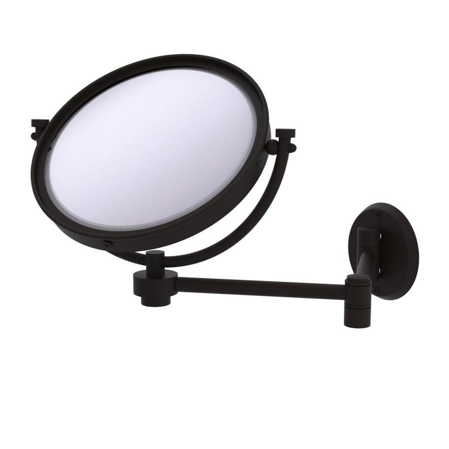 8-in x 10-in Oil-Rubbed Bronze Double-Sided Magnifying Wall-Mounted Vanity Mirror   - Allied Brass WM-6/5X-ORB