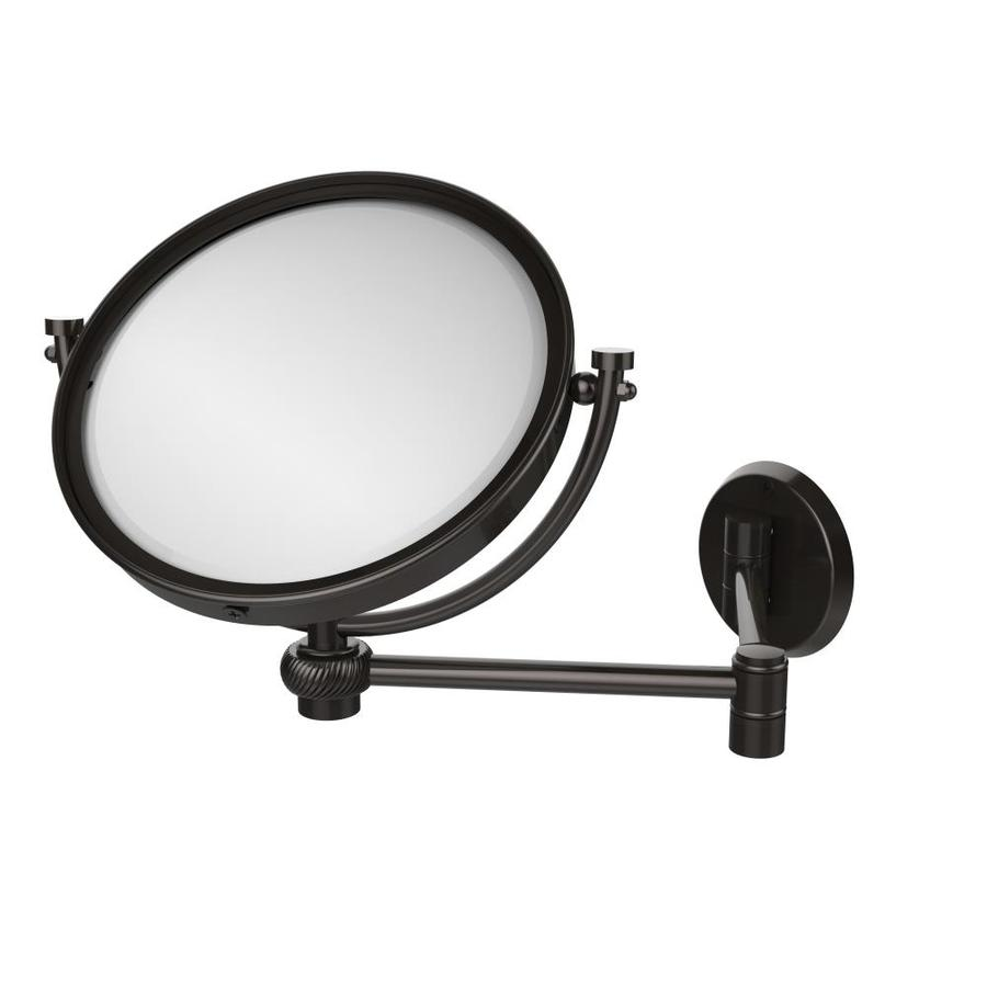 8-in x 10-in Oil-Rubbed Bronze Double-Sided Magnifying Wall-Mounted Vanity Mirror   - Allied Brass WM-6T/3X-ORB