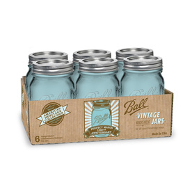 Shop Ball 6 Pack 16 Oz Glass Canning Jars With Lids At