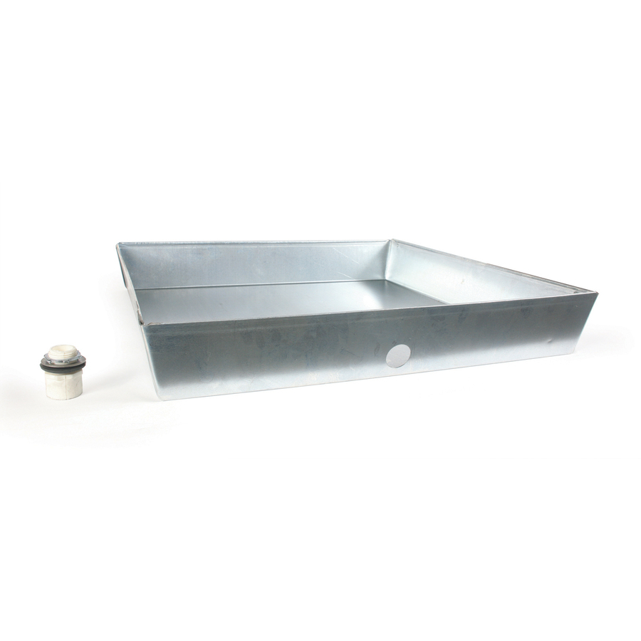 Shop Camco Manufacturing 24 In Galvanized Square Drain Pan