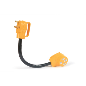 Camco Manufacturing 30-Amp 3-Wire Grounding Single to Single Yellow Basic Adapter 55185