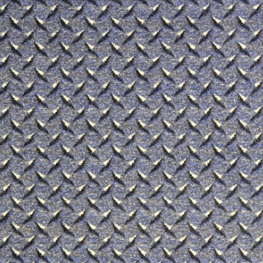 Shop Joy Carpets Diamond Plate Steel Blue Cut Pile Indoor