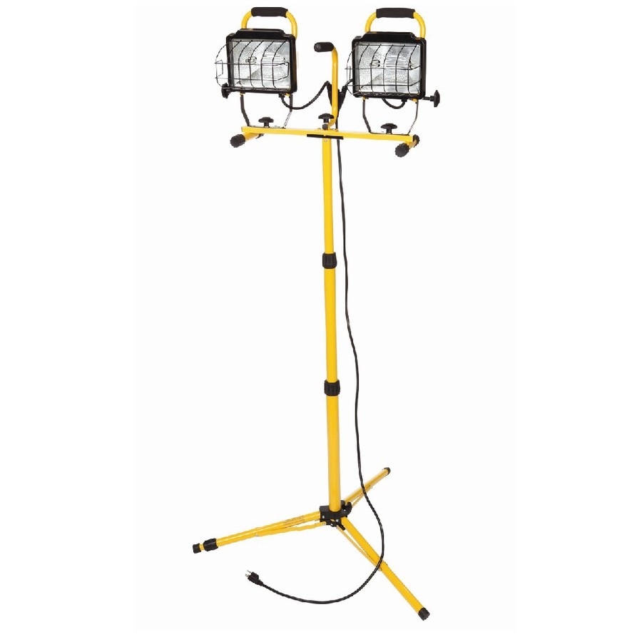 Shop Utilitech 1000 Watt Halogen Stand Work Light At Lowes Com