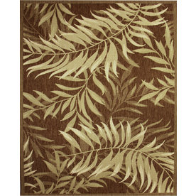 Shop Palm Leaf Rectangular Indoor And Outdoor Woven Area