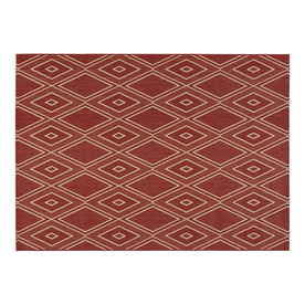 Allen Roth 1026a1f4l Tinsley Red Rectangular Indoor