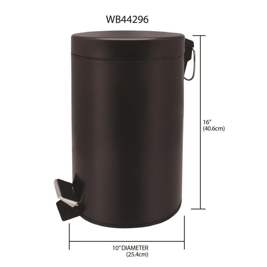 Mind Reader 1Cirga Garbage Basket Round Metal Mesh Trash Waste Bin Recycling Set Red