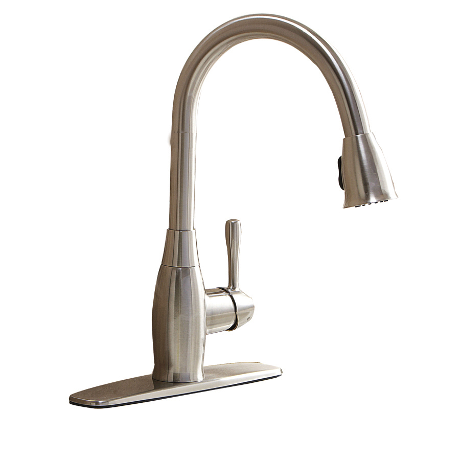 Aquasource Brushed Nickel Pull Down Kitchen Faucet