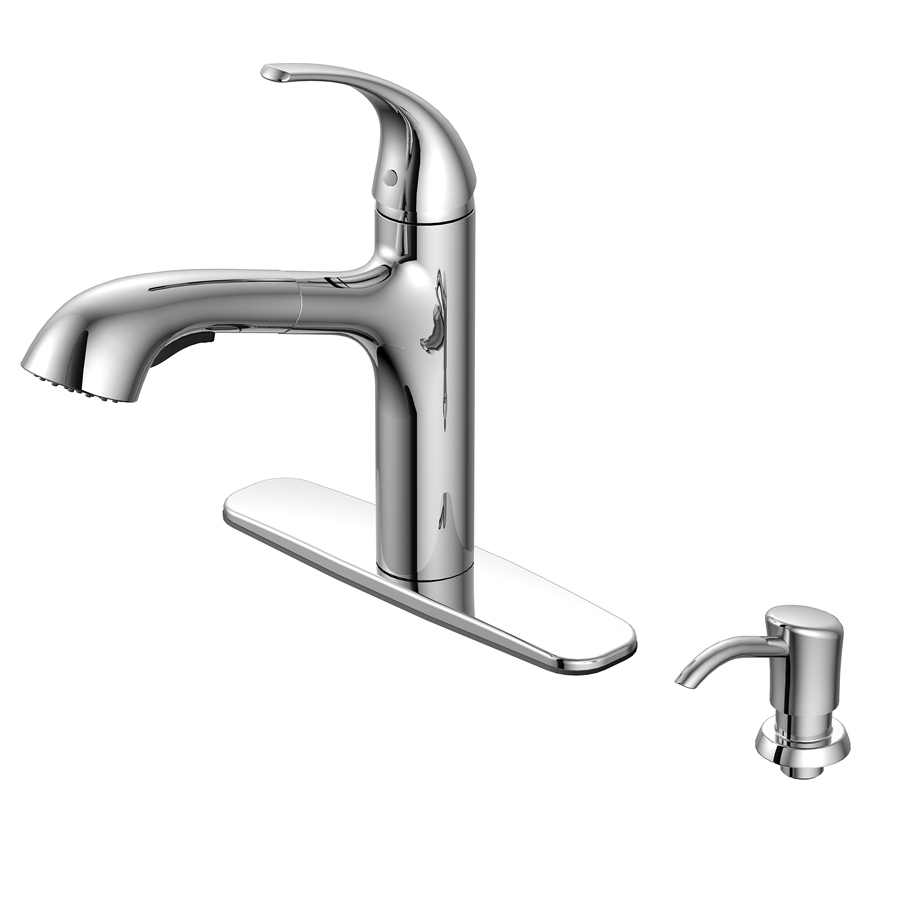 Aquasource Kitchen Faucet: Shop AquaSource Chrome Pull-Out Kitchen Faucet At Lowes.com