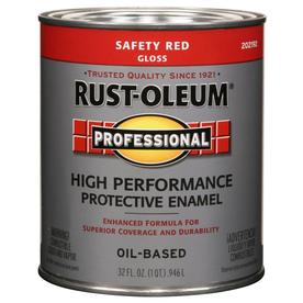 Shop Rust Oleum Professional High Performance Safety Red