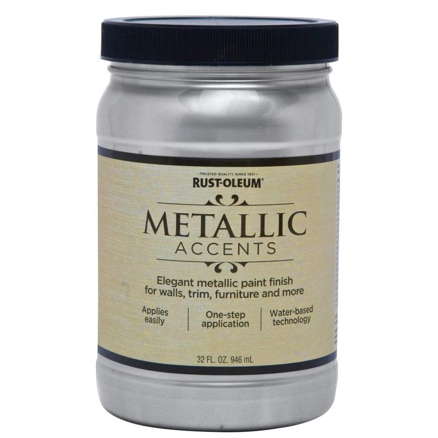 Shop Rust-Oleum Metallic Accents Quart Size Container Interior Gloss Sterling Silver ...