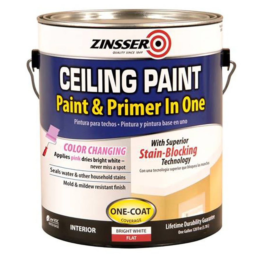 Shop Zinsser Ceiling Gallon Size Container Interior Flat Ceiling Bright