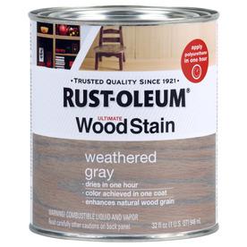 Shop Rust Oleum Ultimate Wood Stain 32 Fl Oz Weathered