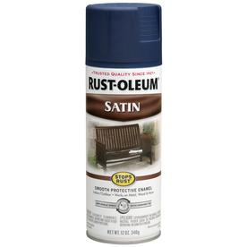 Shop Rust Oleum Stops Rust 12 Oz Navy Blue Satin Spray