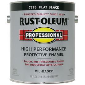 Rust Oleum Professional Black/Flat Flat Oil-Based Enamel ...