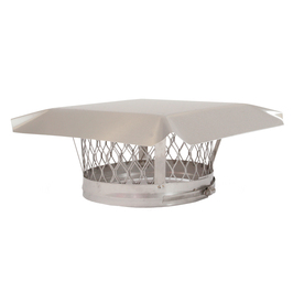 HY-C 9-in W x 9-in L Stainless Steel Square Chimney Cap LC9