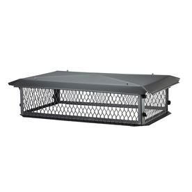 HY-C 17-in W x 35-in L Black Galvanized Steel Rectangular Chimney Cap BBT1735KD