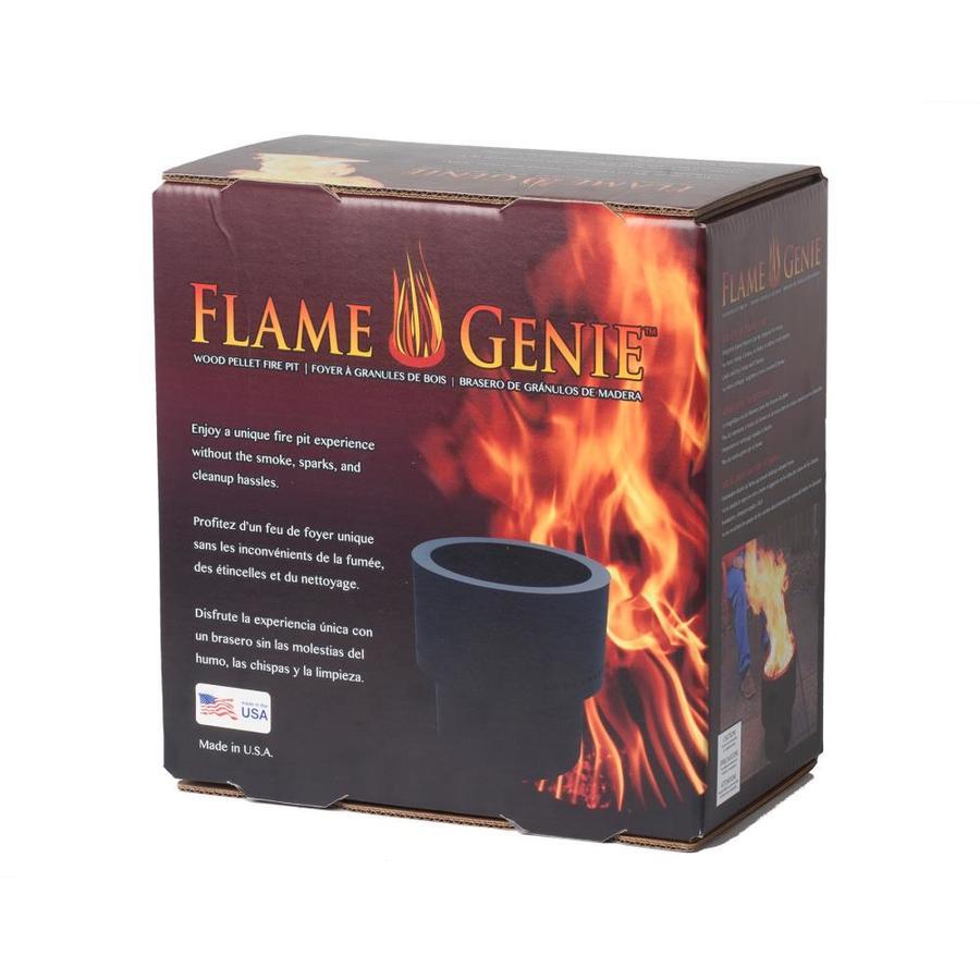 Flame Genie 13 5 In W Black Steel Wood Burning Fire Pit In The Wood Burning Fire Pits Department At Lowes Com