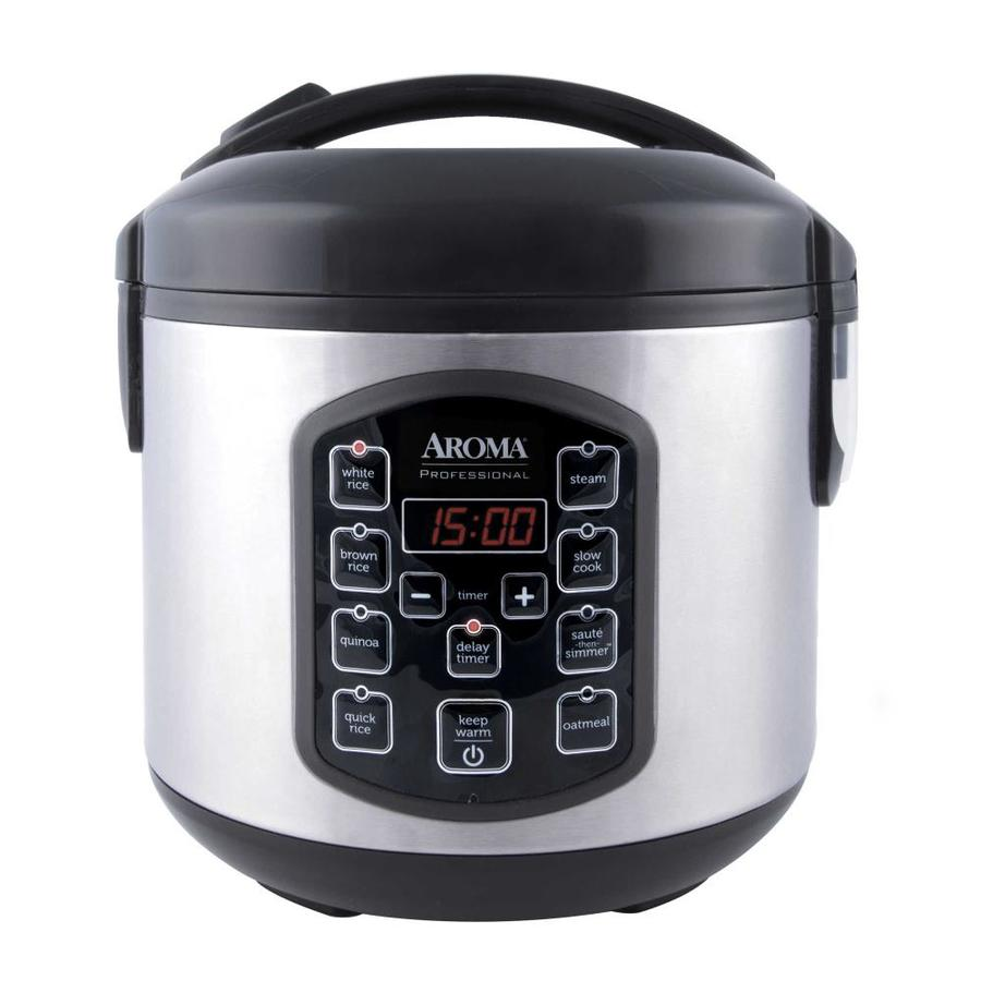 Aroma Arc-954SBD 8 Cup Cooked Digital Rice Cooker, Multicooker Food Steamer